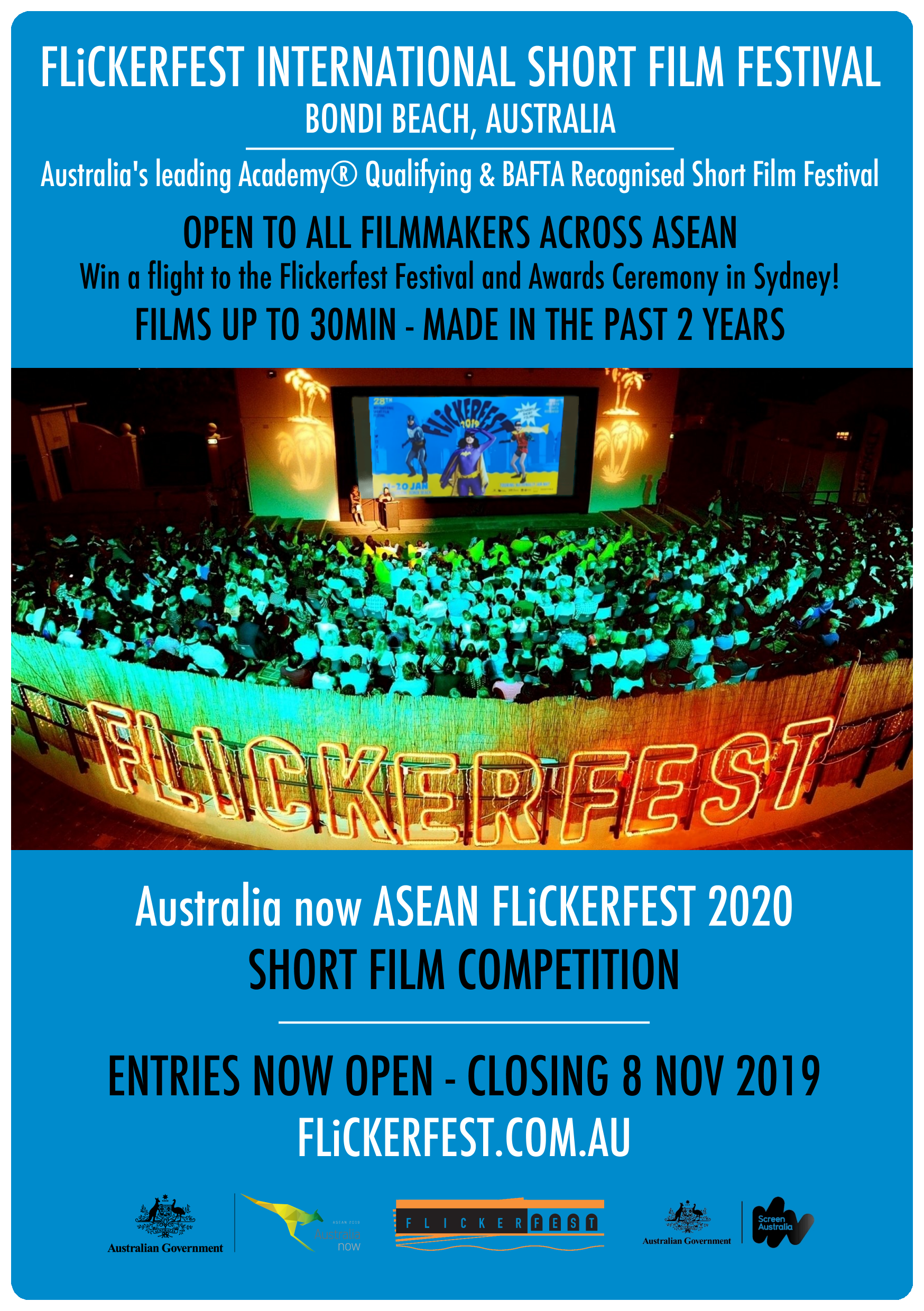 Flickerfest 2020 Australia Now Asean Entries Now Open